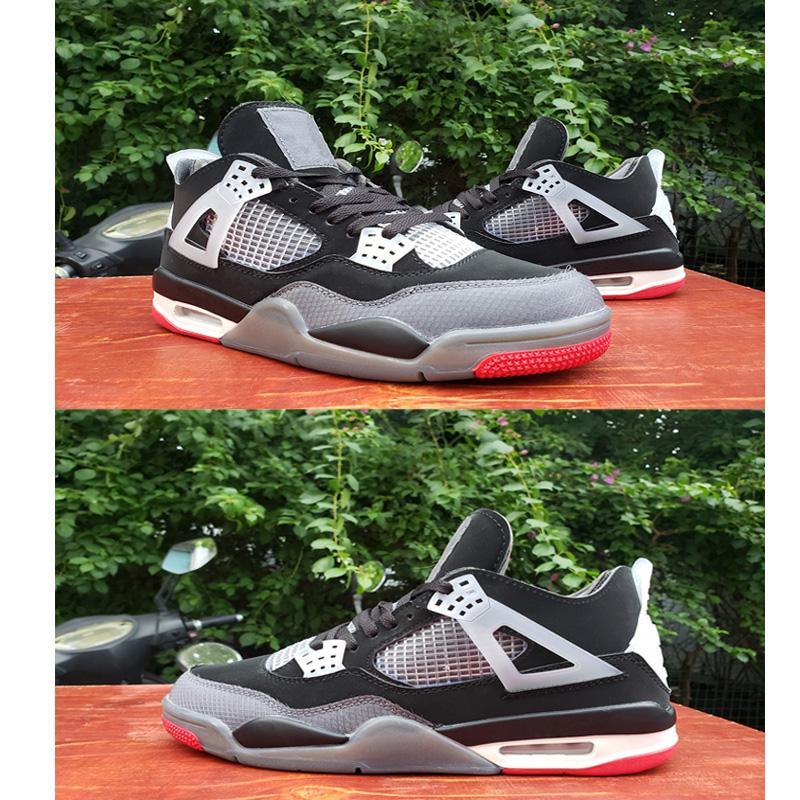 2020 Yeni 4 4s OG Jumpman Basketbol Ayakkabı Metalik Mor Kırmızı Siyah ovo sıçramak Cat Ne Erkekler Erkek Spor Sneakers Bred