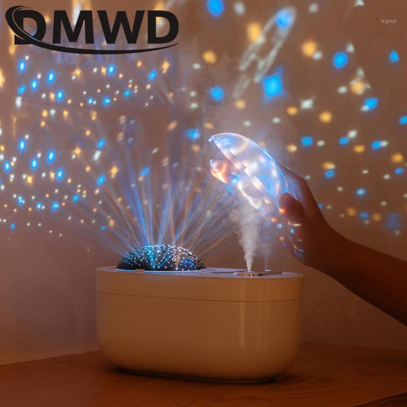 Humidificadores DMWD DMWD Humidificador Elétrico Aroma Essencial Difusor de Óleo Ultrasonic Air Dream Dream Projeção Mini Mistura LED Light1