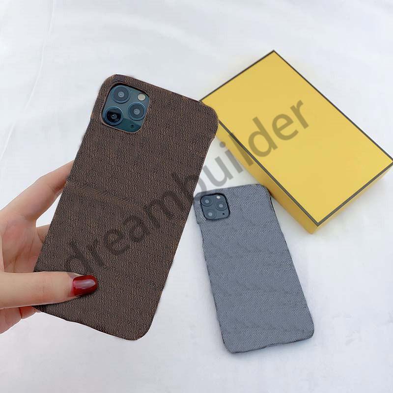 F Moda iPhone 12 Pro Max 11 Pro Max 7 8 Artı XR XS Max Durumda PU Deri Lüks Tasarımcı Samsung Kılıf S10P S9 Not 8 9 10 P