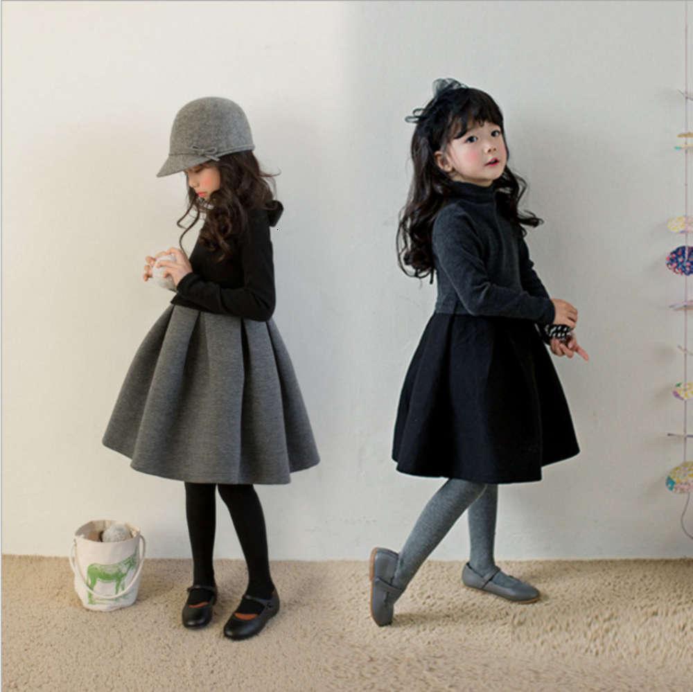 2019 Automne peluche hiver Nouveaux Drs Girls 'Air Cotton Prinfs Moyenne et grande jupe gonflée de Sve