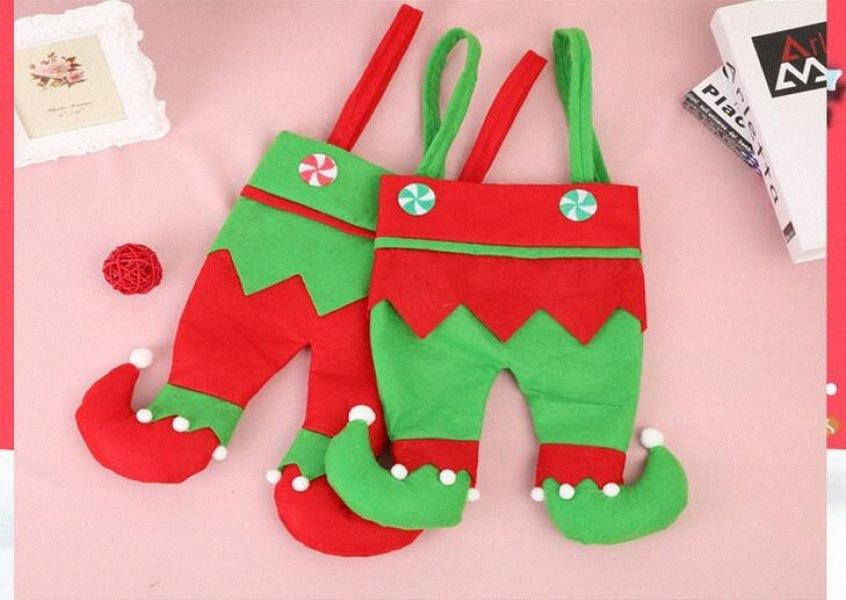 Bottiglia Nuovo Ornamenti di Natale del vino rosso di Natale Gift Bag Candy Bag Elf regalo Bella MdXd #