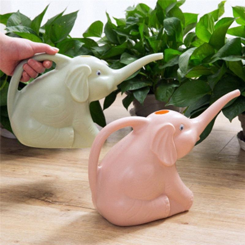 Bonito forma única Cria de elefante plantas Longo Boca lata molhando da flor Jardim Aspersão Pot Gadget Garden suprimentos 3 cores sZcL #