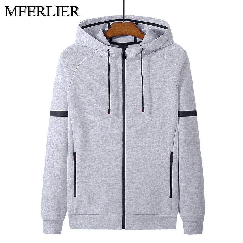 Spring Autumn cotton men hoodies 5XL 6XL 7XL 8XL bust 145cm Plus size long sleeve sweatshirt men 5 colors Y0106