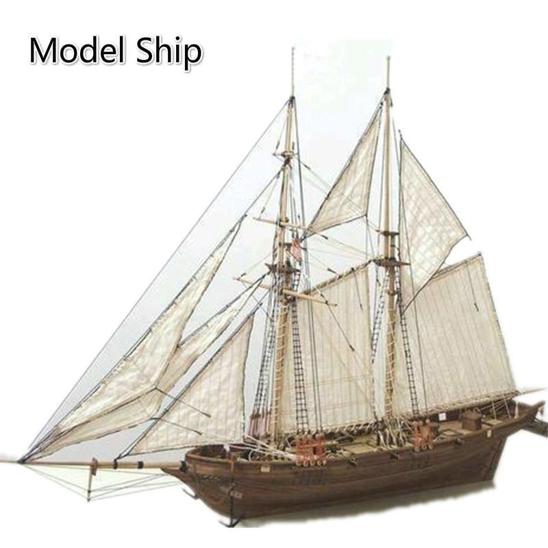 1: 100 DIY Ship Model Assemblée en bois 3D Designer coupe classique Bateau à voile Laser Process Puzzle jouets pour adultes