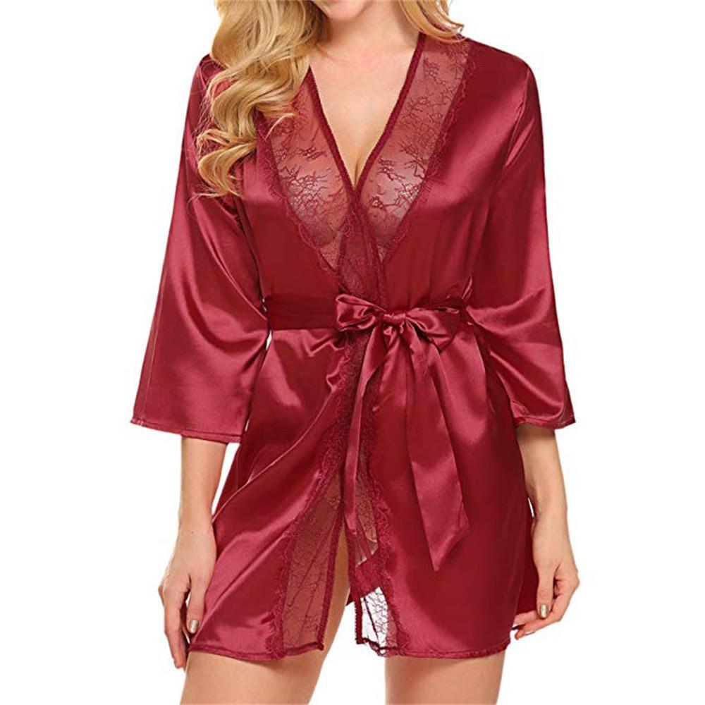 Lingerie sexy de nuit Femmes dentelle Chemise de nuit Sous-vêtements Briefs Tentation Sexe Femme Femme Hot érotiques Vêtements de nuit Robes 75 !!