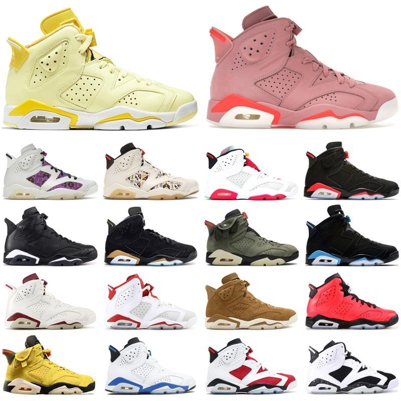 Top Quality 6 6s Jumpman Scarpe da basket Black Black Infrarossi Hare DMP UNC Nero Cat Bull Bull Aleali May Mens Trainer Sneakers sportivi
