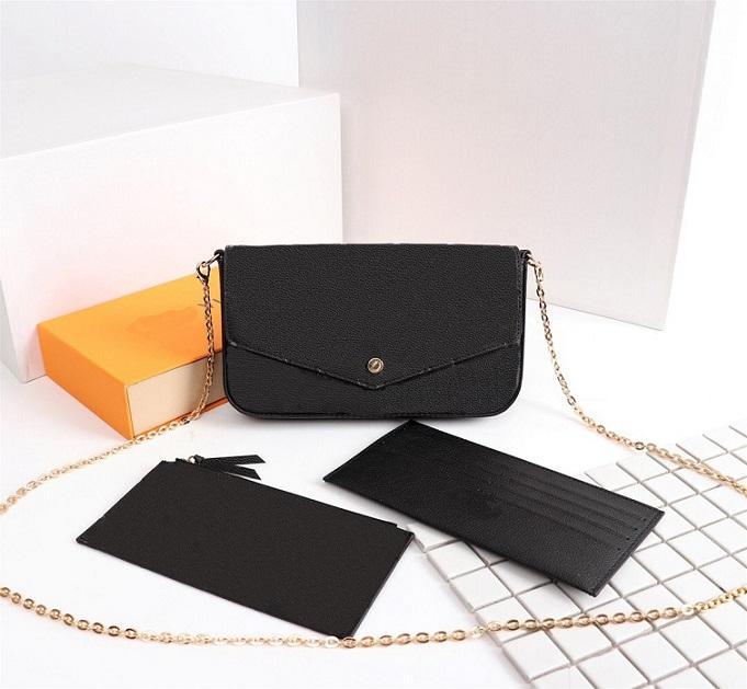 Luxurys Designers Sacs Sac à main Femme Femme Bandbody Sac Sac à bandoulière Multi Pochette Felicie Felicie Chaîne Sac à main avec boîte à poussière