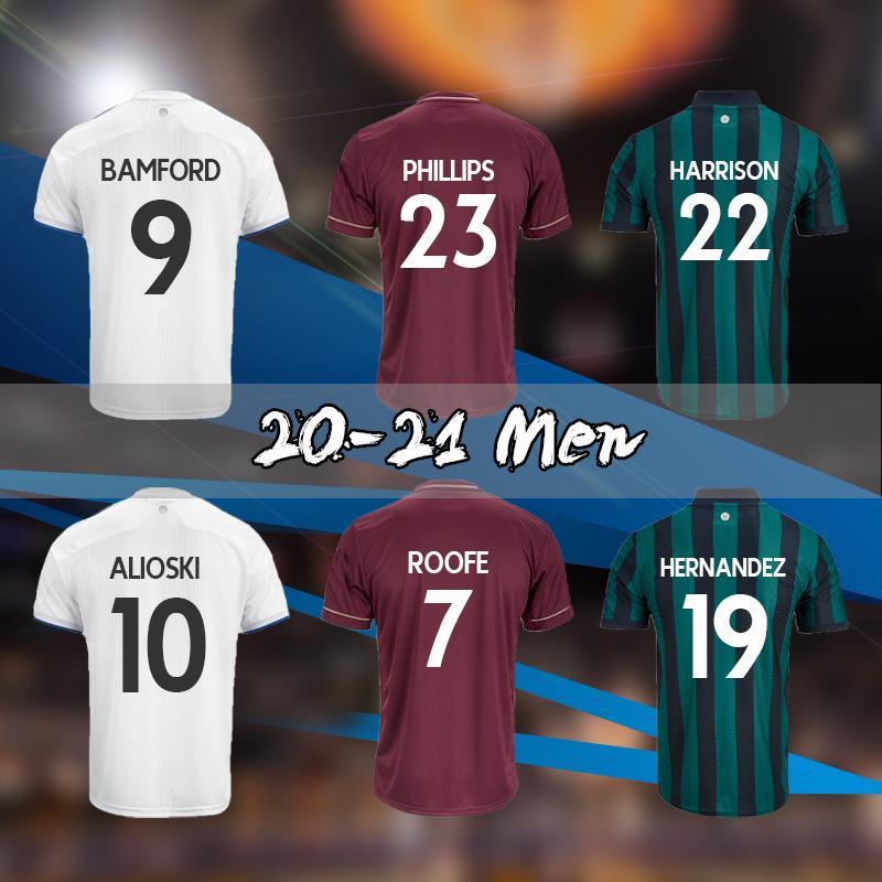 2020 21 Bamford Fussball Trikots United 2020 2021 Rodrigo Koch Costa Alioski Phillips Männer Training Football Hemd Thailand