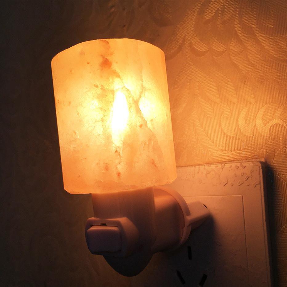 New Natural Himalayan Salt Led Night Light Decorative Air Purifier Wall Lamps Cylinder Light Nursery Lamp Natural Crystal Lamp