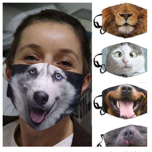Yüz Maskeleri Koruyucu Ağız Kapak Komik Hayvan PM2.5 Filtre AHC3477 ile Yıkanabilir Yeniden kullanılabilir Yetişkin Unisex Tasarım Kulak-asılı Maskeler yazdır