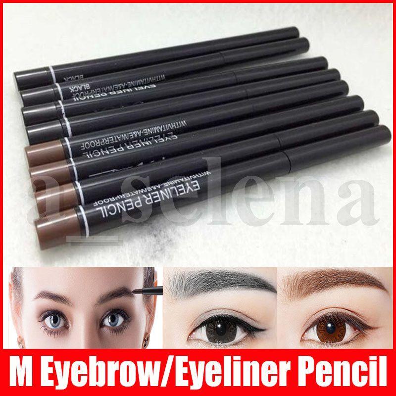 ماكياج العيون M الدوارة قابل للسحب الأسود COFFEE قلم كحل للماء أدوات الحاجب قلم كحل مستحضرات التجميل 2 الألوان