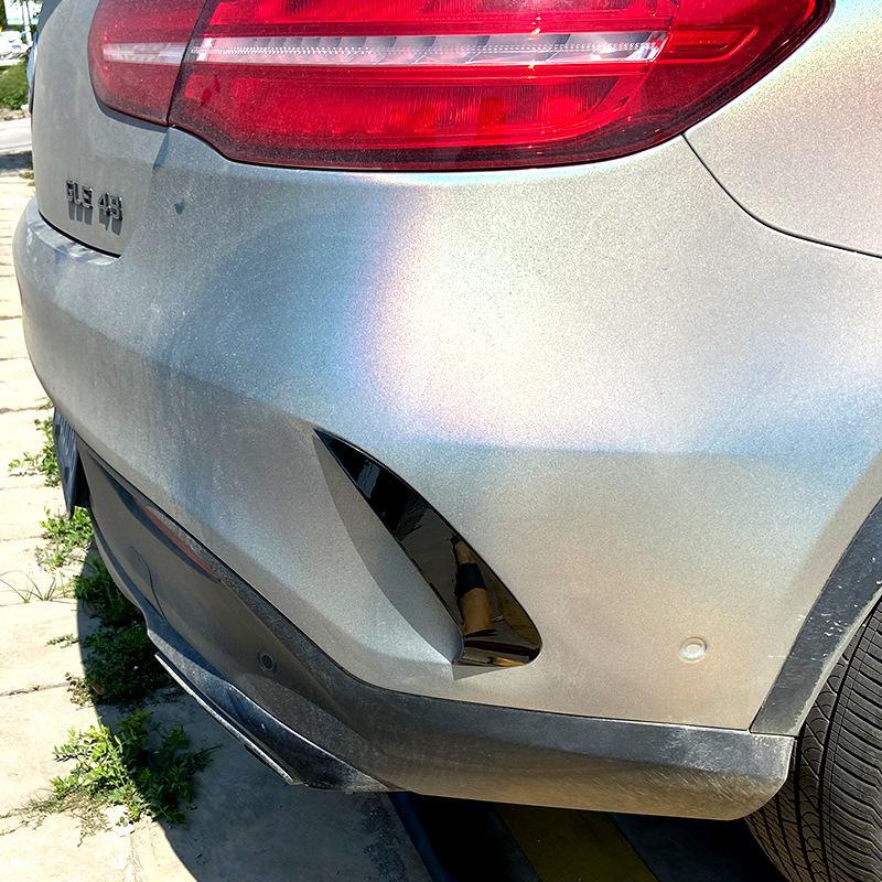 Auto Styling Kohlefaser Rückseite Spiegel Körper Nebel Licht Aufkleber Abdeckung Für 2015-2018 Mercedes-Benz GLE Coupe C292 Zubehör