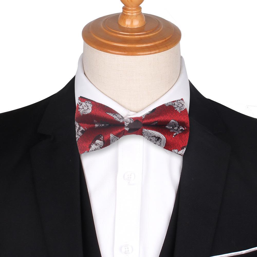 Moda Uomo Papillon Classic Jacquard Woven Bowtie per uomini d'affari di nozze adulti floreale papillon farfalla Suits Cravatte Bowties