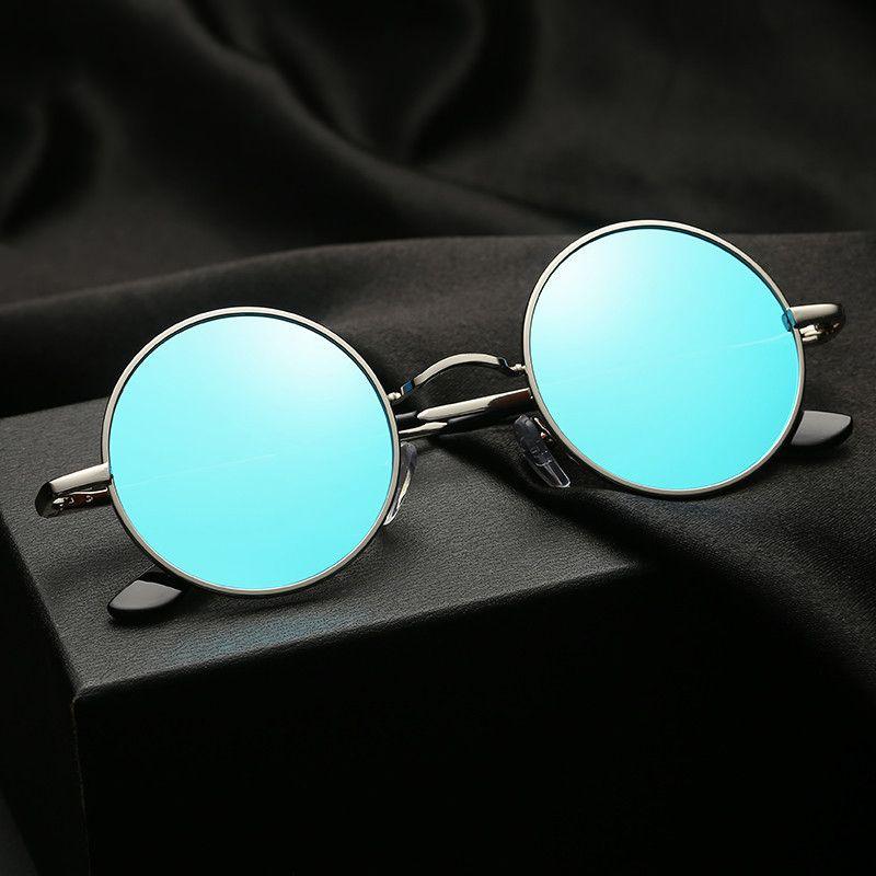 Круговые поляризованные очки, дизайн бренда, мужчина, женщина, назад, сплав, UV400, тенденции 2019