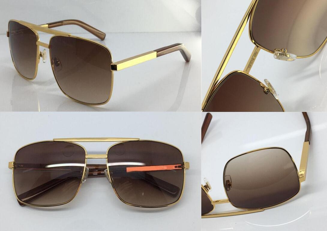 Nuevos hombres hombres gafas de sol actitud gafas de sol estilo moda protege los ojos Gafas Sol Lunettes de Soleil con caja