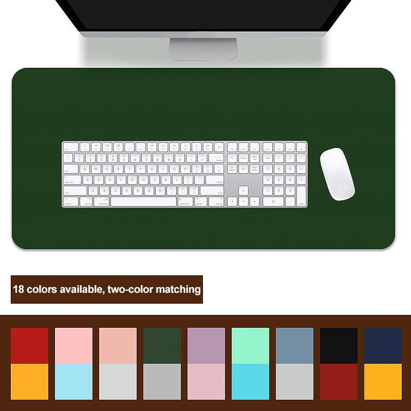 Poltrici da polso da topo appoggia a doppio lato portatile grande pad Gamer impermeabile in pelle da tavolo tappetino tappetino tastiera tastiera tastiera