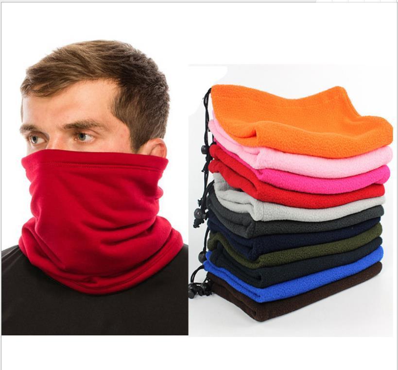 Kadınlar Erkekler Tüp Bandana Fular Beanie Hat Sıcak Kalınlaşmak Kadife Yüz Bisiklet Fleece Boyun tozluk Doğa Sporları Windproof Şapkalar Isınma Maske