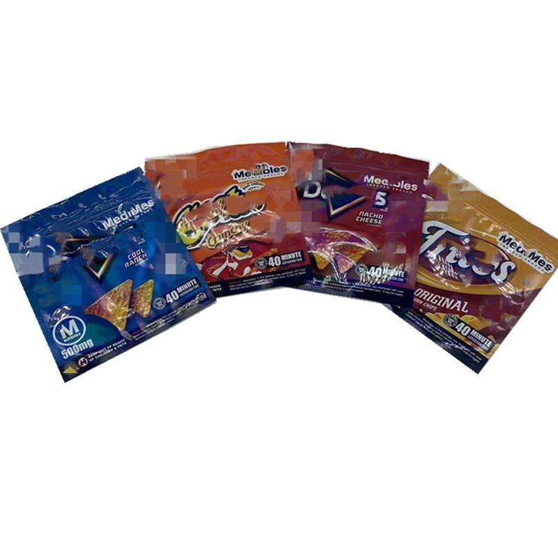 Sacos de embalagem batata microplaquetas medíveis 500mg cheetos maylar reeselable ediblable Doritos queijo Gummi Worm Saco