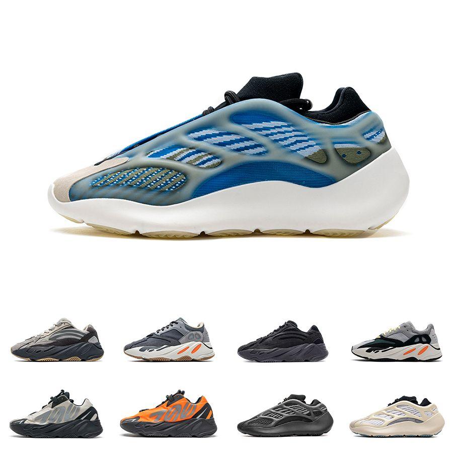 Mens Kanye 700 Srphym Carbon Wave Azael Kyanite Womens V3 Geode Inertia V2 Running Shoes MNVN Azareth Orange Bone Salt Tephra Vanta Sneakers
