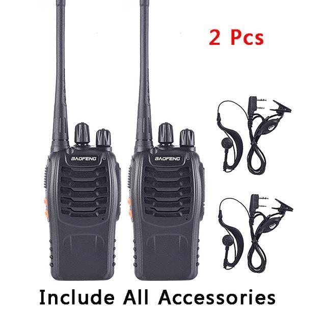 modelo Speaker Walkie Talkies UHF Radio falador W / 1PCS manuais / 2PCS Bf-888s