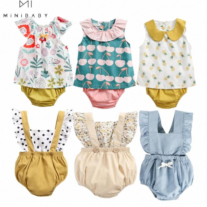 INS baby Clothing Summer Casual Baby Girls Sleeveless Floral 100% Cotton Bodysuit Infant Jumpsuit girl clothes Outfits 7ro9#