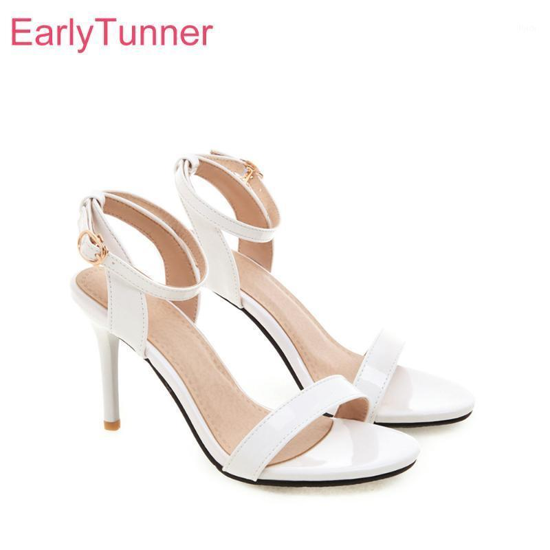 Summer Brand New Fashion White Red Women Sandali Sandali Gladiatore Tacchi Lady Party Shoes EH217 PLUS Big Big Dimensioni 3 10 30 45 501