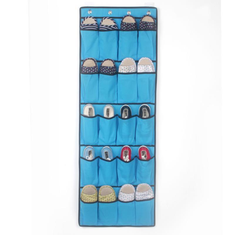 Zapatilla sobre la puerta bufandas de almacenamiento 20 bolsillo rack colgando espacio ahorro dormitorio cinturones zapatos bolsa organizador
