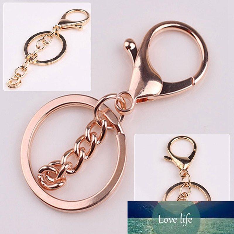 Haute Qualité Mode Gold Clé Chaînes Bague Bijoux Diy Faire accessoires Pièces Sac Charms Charms Clé Trinket
