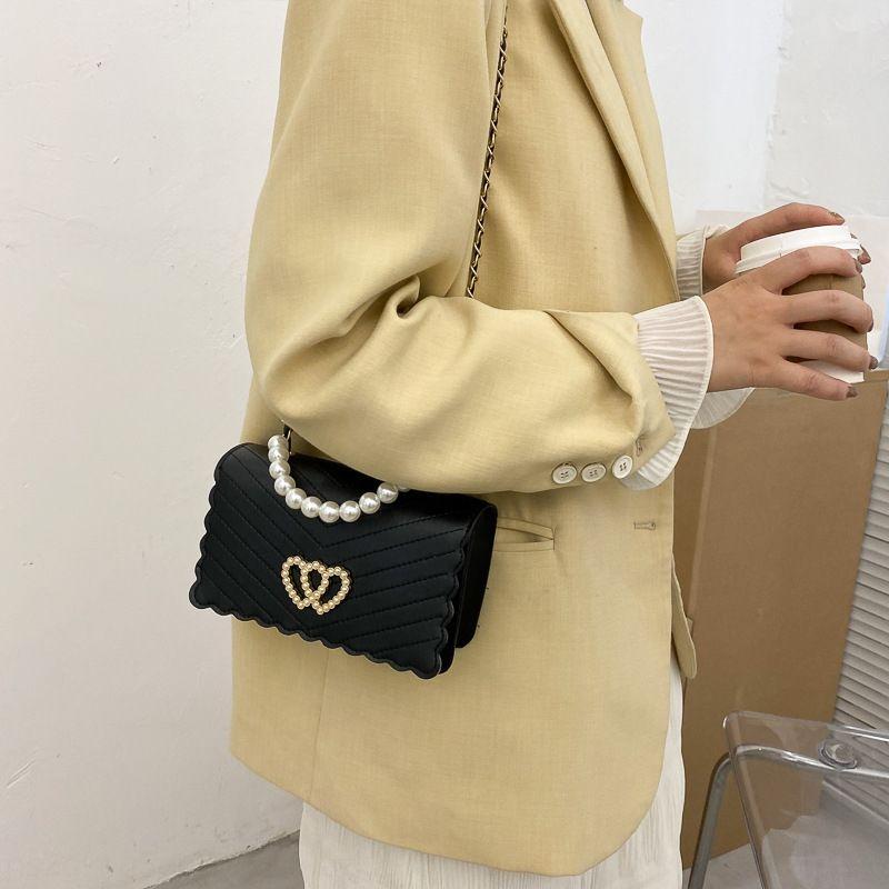 2020 nova moda de moda um ombro mensageiro saco honglingge net cadeia saco Pérola Pearlpearl AV3y3 das pequenas CK mulheres