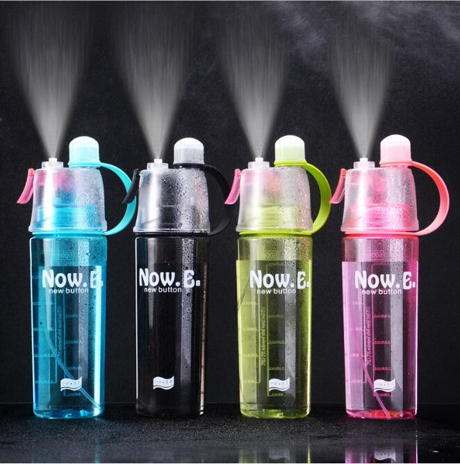 400ml 600ml Mist Spray Water Cup Portable Summer Water Cooling Cup Kettle Multi PC Outdoor Exercise Water Bottle Drinkware HA1358
