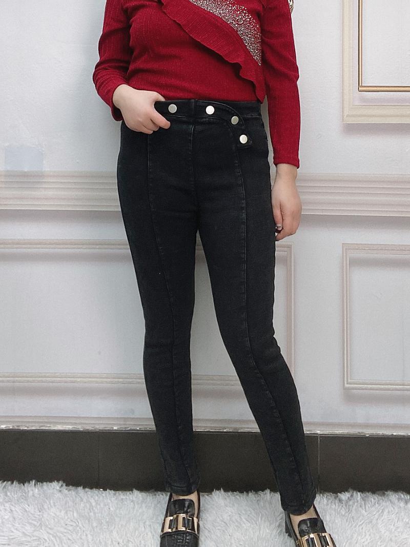 Jeans de invierno Mujeres de gran tamaño Pantalones de lápiz de gran tamaño Cintura alta Follea de lana de lana cálida Termalado delgado Pantalones de mezclilla Ropa de moda 2021