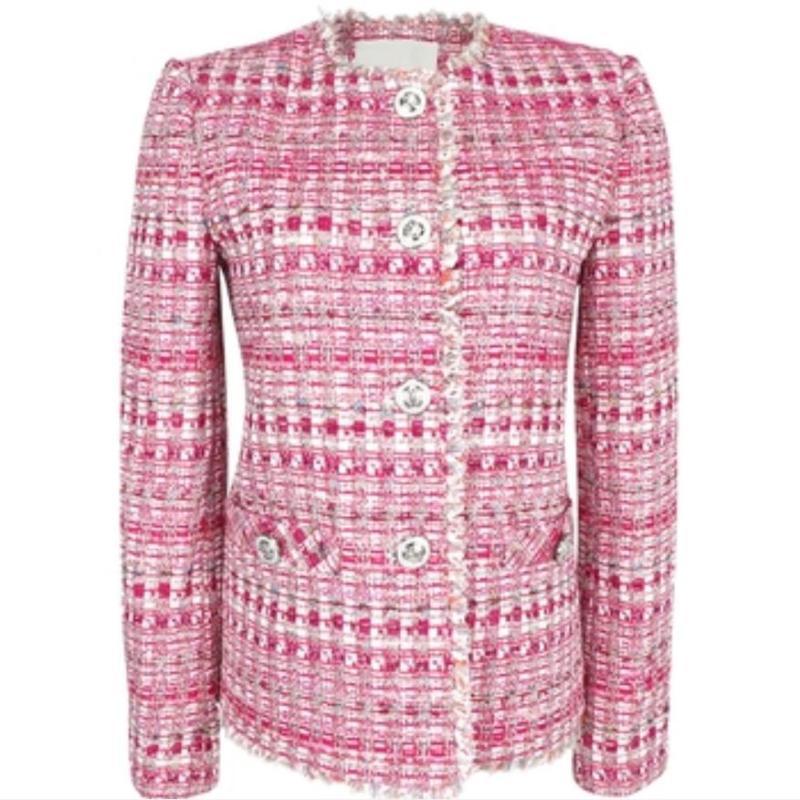Auutmn Vintage Kleine Duft Quaste Tweedmantel Frauen Oansatz süßer Singel kurze Jacke Einreiher
