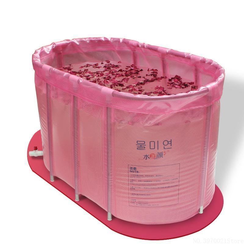 أحواض الاستحمام مقاعد المحمولة قابلة للطي حوض مزدوجة غير قابل للنفخ قابلة للنفخ حمام الحوض برميل مع إطار الفولاذ المقاوم للصدأ للبالغين