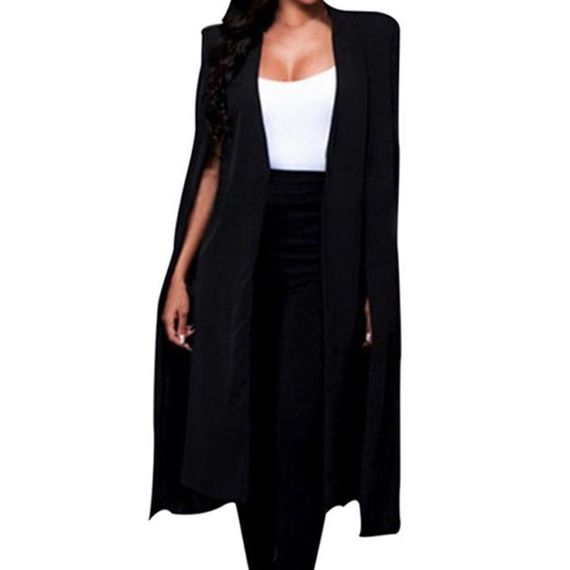 Women's Gilets Elegant Women Vest Veste Office Travaux de Blazer Long Blazer Blazer Sans Manches Sans Manteau Cape Cape Haute Qualité D90508