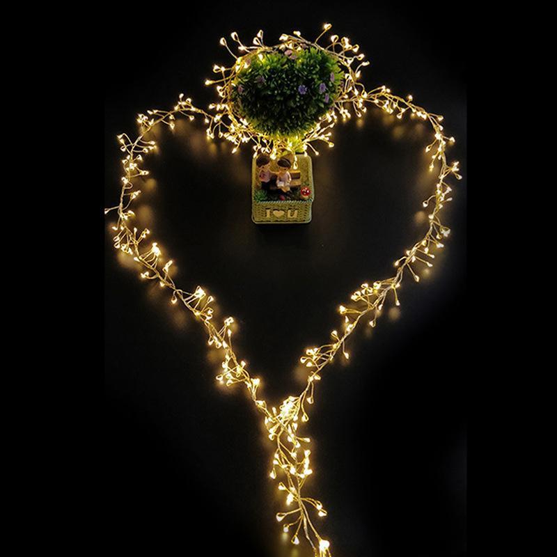 Led fio de cobre Lâmpada de Cordas foguete Bamboo Lamp arroz de grão de Cordas da lâmpada de fio de cobre férias Decoração Modeling cores de Natal