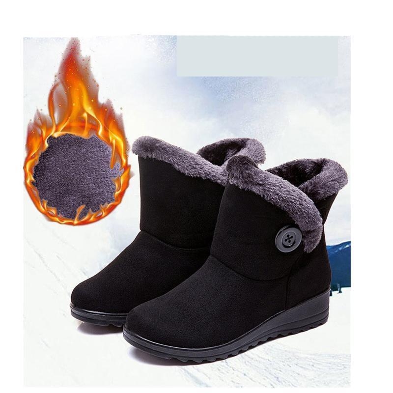 BEYARNEFashion Donne Stivali 2020 Moda Scarpe caldi Snow Boots Women punta rotonda scarpe impermeabili ShoesE1088