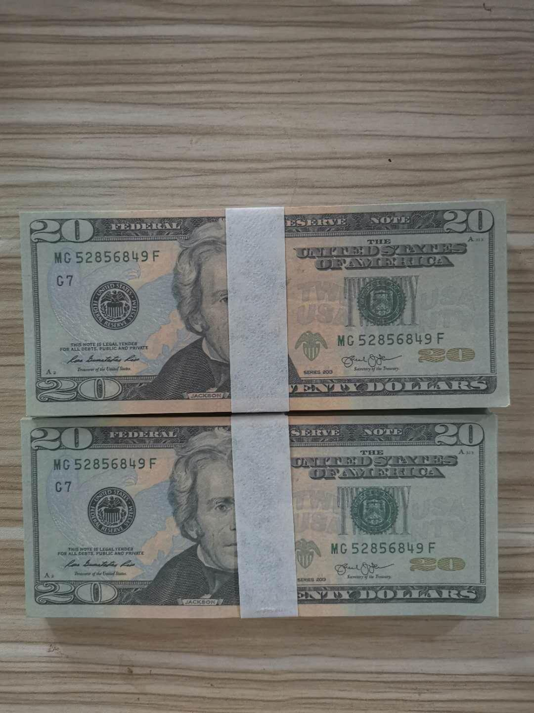 20 USD Prop Money Paper Fake money Banknote Party games paper toys Fake Money 100pcs/pack