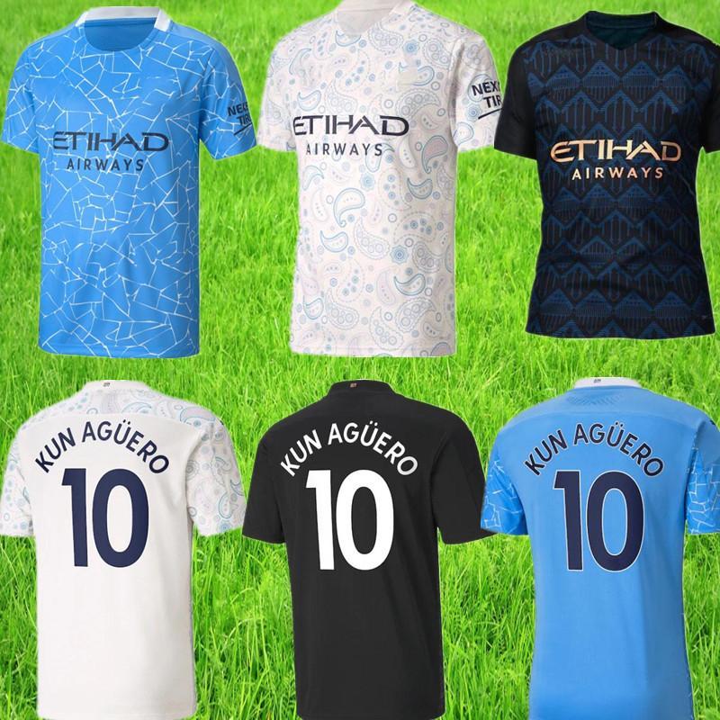 2020 2021 men soccer jersey patch football shirt KUN AGUERO DE BRUYNE GESUS BERNARDO MAHREZ SANE RODRIGO Maillot De Foot