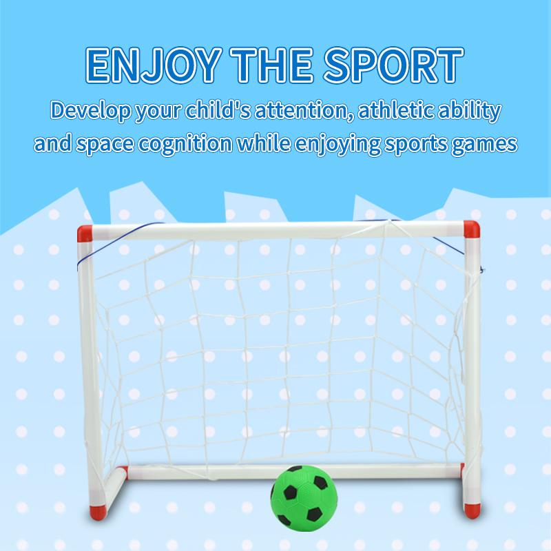 Detachable Diy Portable Children Sports Soccer Goals Toy Practice Scrimmage Game Football Gate Diy White with Soccer Ball