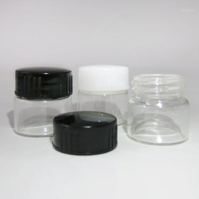 360 x 5ml PORTABLE Petite Boîte Boîte Maquillage Contenants Cosmétiques Vis Capuchon de Verre Blanc Black Clear Cream Bottles1
