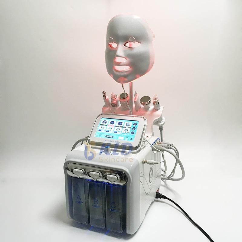Большой насос Гидрофабрикальная микродермабразия машины кислородной реактивный SPA Используйте ультразвуковой скруббер RF подъемный гидро шелушение с 7 цветами светодиодная маска KLDSKINKARE