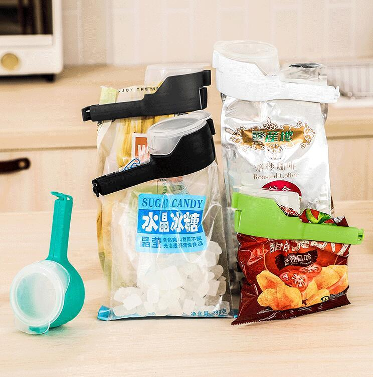 Food Sealing Clips Seal Pour Food Storage Bag Clip Controllable Large Discharge Nozzle Storage Bag Clamp Kitchen Storage Food Tools GWB2142