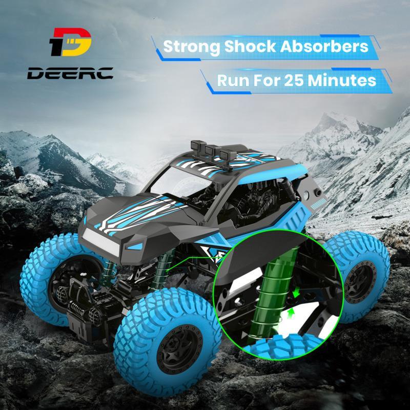 DEERC DE32 de 2,4 GHz de control remoto de campo a través de camiones todo terreno Rock Crawler de coche para niños RC Racing Monster Truck