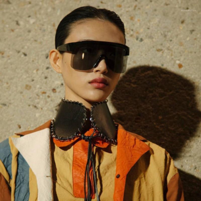 Occhiali moda cornice di moda occhiali da sole pezzo 2020 marchio UV4001 Vintage One GRANDE Designer Oversize Specchio Sole gradiente ombra Uomini Donne GWPJK