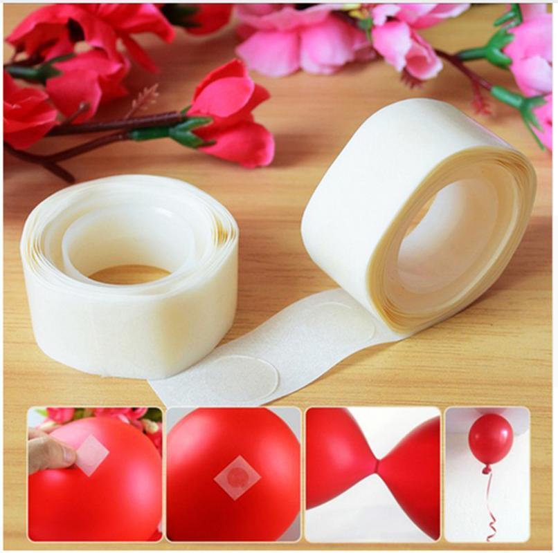 200PCS / Lot removível Balões Glue casamento decorações do aniversário de anexos Glue Dot Balões do partido fornece etiquetas Pontos