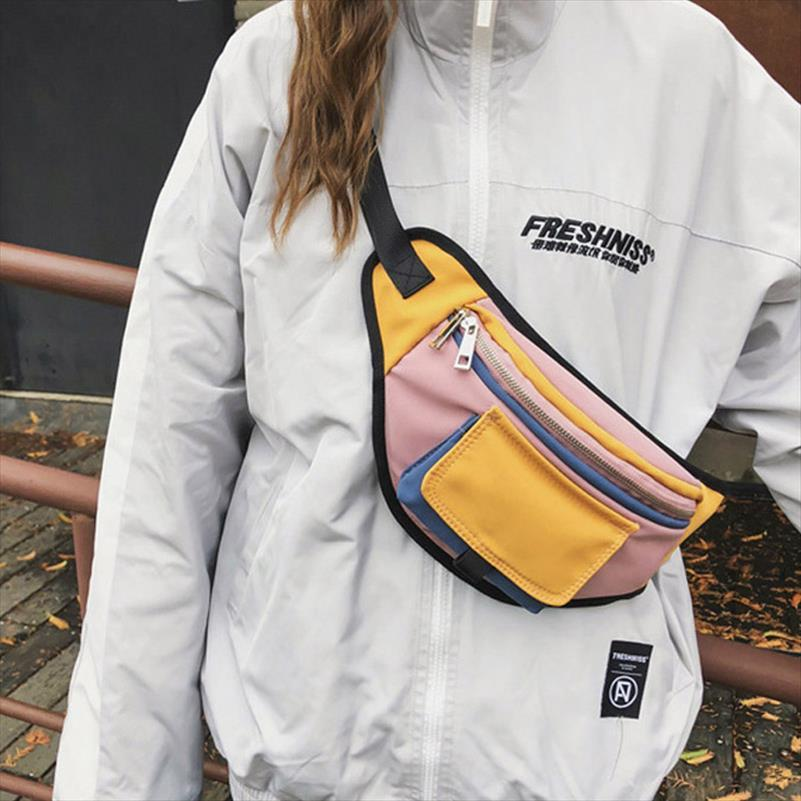 Bolso Bolsa de pecho Unisex Pack Pack Pack Pack Bags Street Style Banana Canvas Hip Packs Fashion Fanny Handy Material Crossbody Cinte XCECW