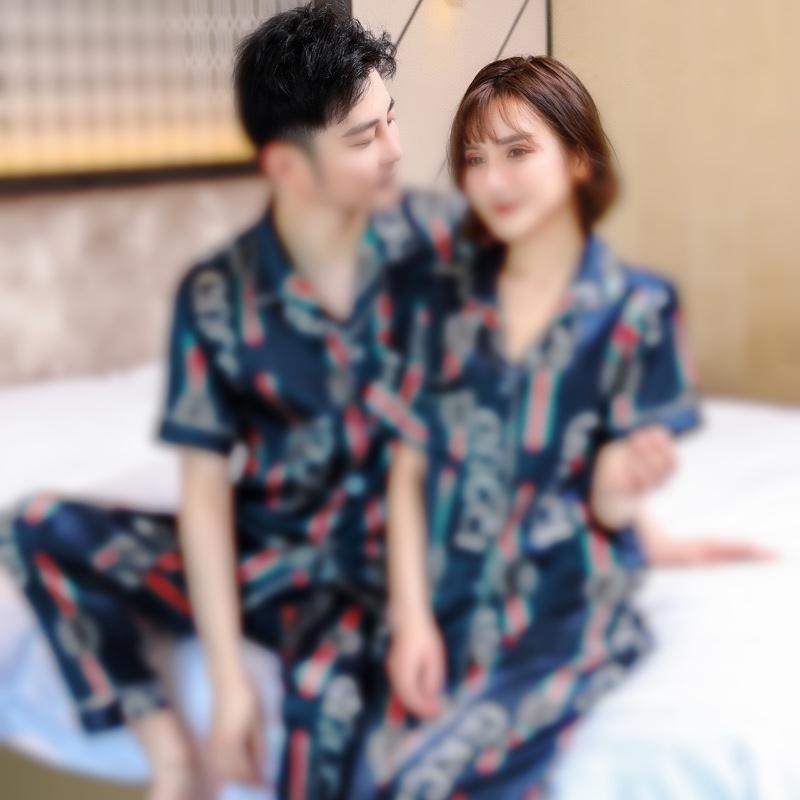 Женщина Хлопок V-образным вырезом воды промывают пижамы наборы текстуры Crepe марля длинные рукава брюки 2 1 шт. Весенняя женская домашняя одежда костюм 201009 # 30511111