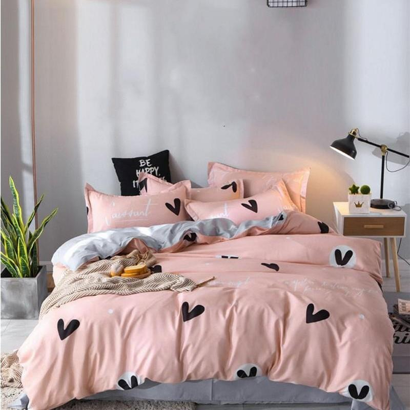 디자이너 침대 이불 세트 100 % 폴리 에스터 섬유 가정용 짧은 식물 베갯잇 Duvet 커버 편안한 담요 129 G2 세트