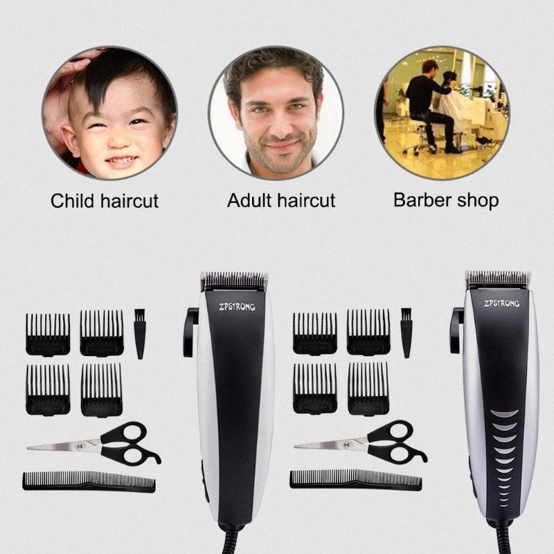 Tagliare i capelli Adulti Bambini metallo Clipper Professional haircut macchina elettrica macchina di titanio della lama di taglio di capelli hBg5 #
