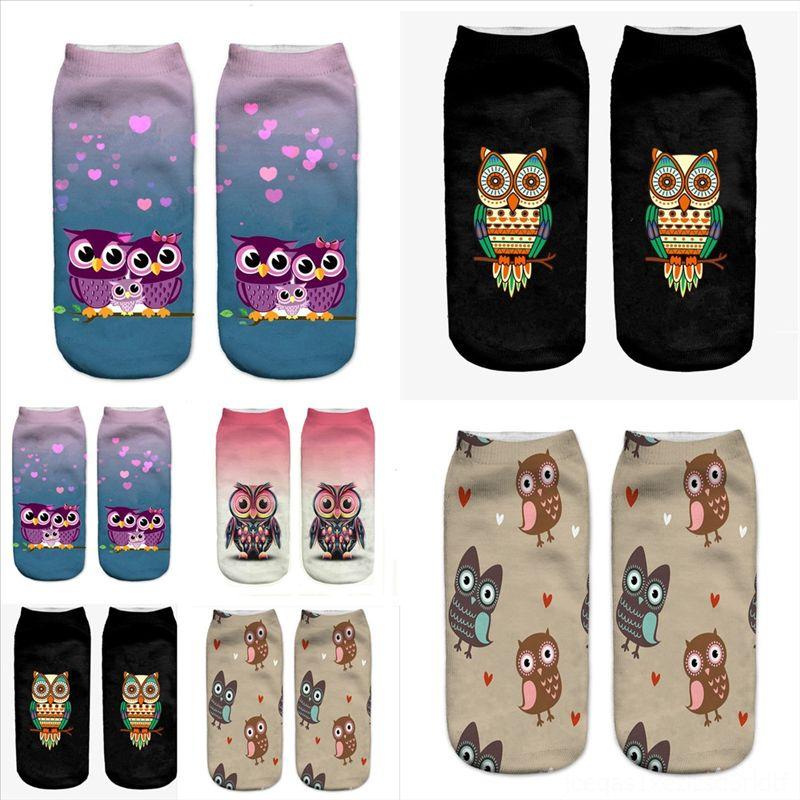 X9QJL Nuevo animal Impresión de animales Larga Moda Mujeres sobre Knee Owl Socks Rainbow Stocking Short Wee Sock Alto Muslo Llegada Stripey